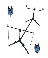 CK  Carp Fishing Rod Pod ,2 Alarms  Swingers , 3 Rod Rests & Bag