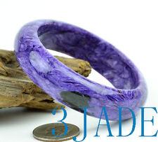 59mm Natural Purple Violet Russian Charoite Bangle Gemstone Bracelet Jewelry