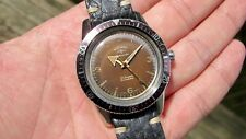 Ultra Rare 1959 Rotary Rotamatic Tropical Brown Dial Diver Watch