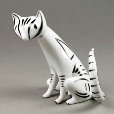 "50s-Figur ""black&white Cat"" HOLLOHAZA, Ungarn, Vintage abstact fifties KATZE"