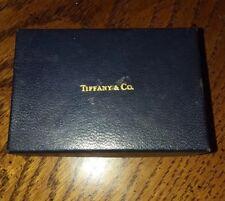 Vintage 1980's Tiffany & Company Black Jewelry Box Jewelery ring