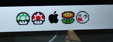 "Super Mario Bros Nintendo Wii 64 Apple iMac Ghost 21.5"" 24"" 27"" Stickers Decal"