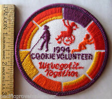 """Girl Scout 1994 COOKIE SALE VOLUNTEER PATCH """"We've Got It Together"""" Selling"""