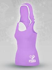 PIMD Women Hooded Vest - Purple Cotton Gym Fitness Beast Top Female Ladies Hood