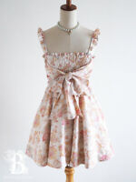 🌹LIZ LISA🌹Ribbon Dress Sweets Angel Floral LARME Hime Lolita Japan-M E414
