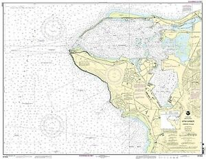 NOAA Chart Mariana Islands Apra Harbor, Guam 16th Edition 81054
