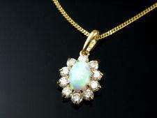 Unbehandelte Halsketten und Anhänger mit Opal Edelsteinen mit echten