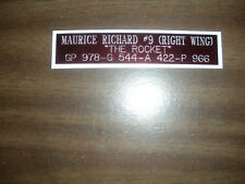 MAURICE RICHARD (CANADIENS)  NAMEPLATE FOR SIGNED PUCK DISPLAY/JERSEY CASE/PHOTO