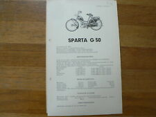 SPARTA FP 50 1953 ONWARDS SERVICE AND REPAIR GUIDE SPARTA G50 1955 ONWARDS MOPED
