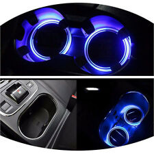 2Pc Solar Cup Pad Car Accessories LED Light Cover Interior Decoration Lights HOT