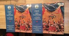 2 LP 33 tours COUPERIN Les Nations jacques Roussel Antoine Geoffroy-Dechaume