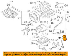 VW VOLKSWAGEN OEM 09-16 CC Engine-Oil Filter 06J115403Q