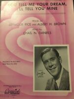 You Tell Me Your Dream And I'll Tell You Mine Vintage Sheet Music Chas M Daniels