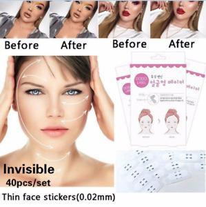 40pcs V-Shape Face Lift Tools Face Label Lift Up Fast Maker Chin Adhesive Tape