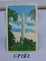 VINTAGE POSTCARD WASHINGTON DC LINEN WASHINGTON MONUMENT PARK