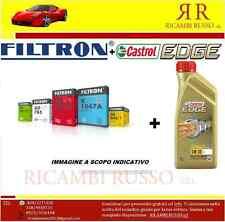 Kit tagliando olio CASTROL EDGE 5W30 6LT + 4 FILTRI BMW 320D E90 E91 120KW 163CV
