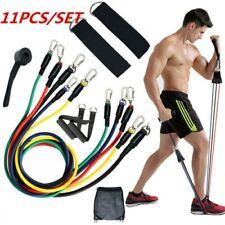 11Pcs/Set Resistance Bands Workout Yoga Exercise Crossfit Fitness Training Tube
