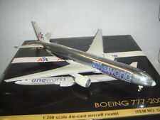 "Gemini 200 American Airlines AA B777-200ER ""OneWorld color"" 1:200 Diecast"