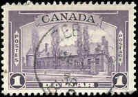 Used Canada 1938 $1.00 F+ Scott #245 Pictorial Issue Stamp