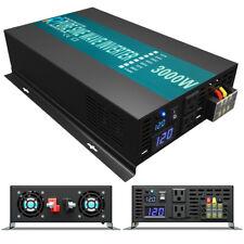 Power Inverter 3000 Watt Pure Sine Wave Inverter 12V to 110V 120V Car Truck Camp