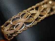 "Estate Retro 1950's Braided Mesh Woven Link Bracelet 7.5"" Y. Gold 14k"