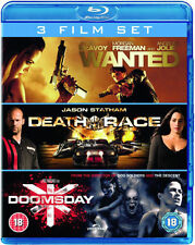 WANTED/DEATH RACE/DOOMSDAY****BLU-RAY****REGION B****NEW & SEALED