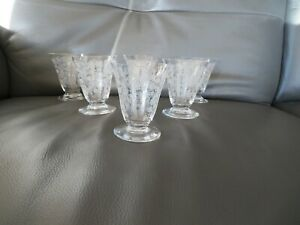 BACCARAT ELISABETH MILLEFIORI 6 VERRES A VIN CRISTAL - 7.5 cm