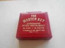 Vintage The Master Key Chromatic Pitch Instrument W/Box A-440 13 Keys  U.S.A.