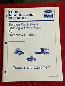 1994 Ford New Holland Versatile Tractors & Equipment Catalog & Order Form Book