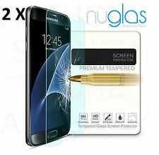 2x GENUINE NUGLAS Samsung Galaxy S7 Premium Tempered Glass Screen Protector