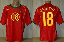 PORTUGAL NATIONAL TEAM 2004 2006 #18 MANICHE FOOTBALL SOCCER SHIRT JERSEY L HOME