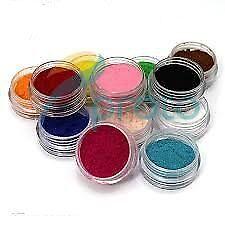12 Farben Nail Art samt Beflockung Pulver  Dekoration polnischen Tipps Maniküre