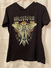 HALESTORM 2019 Usa Tour Womens Black Concert Band Short Sleeve T-Shirt XXL 2XL