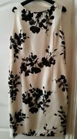 Beautiful Jacques Vert Cream and Black Dress. Worn Once size 14