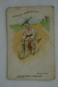 Cycling Terms Scarce 1905 Vintage Antiquarian Wills Vice Regal Card - A Puncture