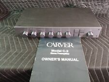 Carver C-2 C2 Preamp Preamplifier Excellent with Manual