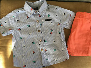 Nautica Boys/' Flags and Anchors 2-Piece Shorts Set Outfit