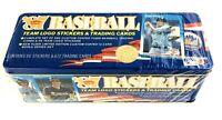 Vintage 1987 Fleer ML Baseball Trading Card Sealed Tin Set-672 Cards 66 Stickers