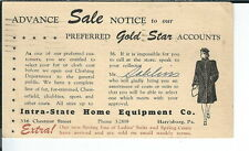 AY-109 - 1944 Intra-State Home Equip Co, Harrisburg, PA Advertising Postcard