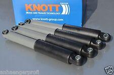 4 x Achsstoßdämpfer plus KNOTT 990020 Anhänger Stossdämpfer Radstoßdämpfer CFF