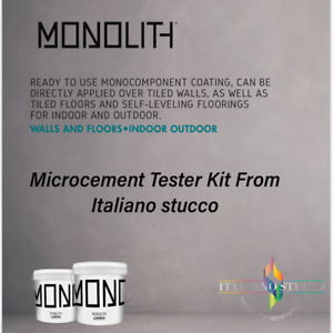1m2 Microcement Tester Kit- Ready To Use, No Mixing !!!!!   Monolith Microcement