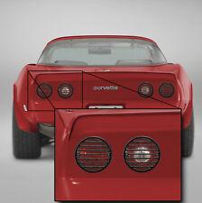 1980-1982 Corvette C3 Taillight Grilles Black Molded ABS Plastic Set of 4 601983