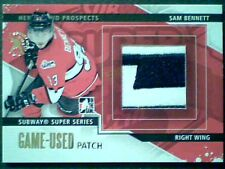 SAM BENNETT  13/14 AUTHENTIC 2-COLOR EMBOSSED PIECE OF A GAME-USED PATCH /5 SP