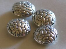 Bali sterling silver beads~Medium Stepping Stone Lentils-metal-10x4mm-0.09 hole