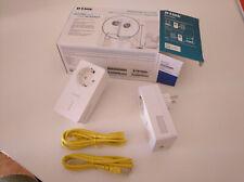 D-Link DHP-P601AV/E, Kit Powerline Av2 PLC 1000 Extensor de Red, 2, Blanco