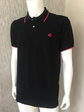 PS Paul Smith Noir en Coton organique manches courtes Polo Shirt Taille M