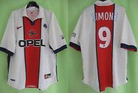 Maillot PSG Paris Saint Germain Simone PSG 1997 1998 OPEL Nike Vintage - L
