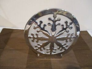 """Silver Reflection Round  Sconce Snowflake Candle Holder, 6.5"""" T x 5.75"""" W (1pc)"""