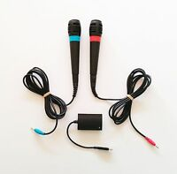 Micrófonos SingStar Sony Playstation 2 + Adaptador USB (Original) (PS2)