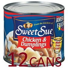 12 Cans Sweet Sue Chicken & Dumplings, 24 Oz, Cooked Meat, Free Shipping, New
